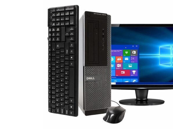 "Dell OptiPlex 3010 Desktop PC, 3.2GHz Intel i5 Quad Core Gen 3, 4GB RAM, 250GB SATA HD, Windows 10 Home 64 bit, BRAND NEW 24"" Screen (Renewed)"