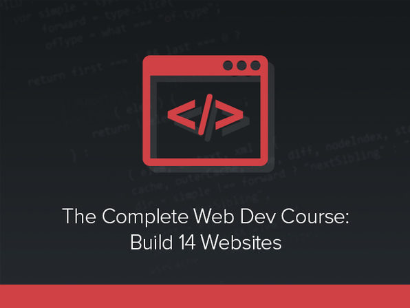The Complete Web Developer Course - Build 14 Websites - Product Image