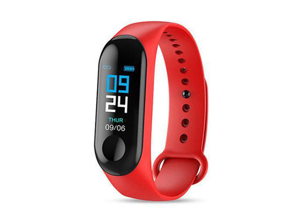 Smart Fitness Tracker With HR & BP Monitor - Red - Product Image