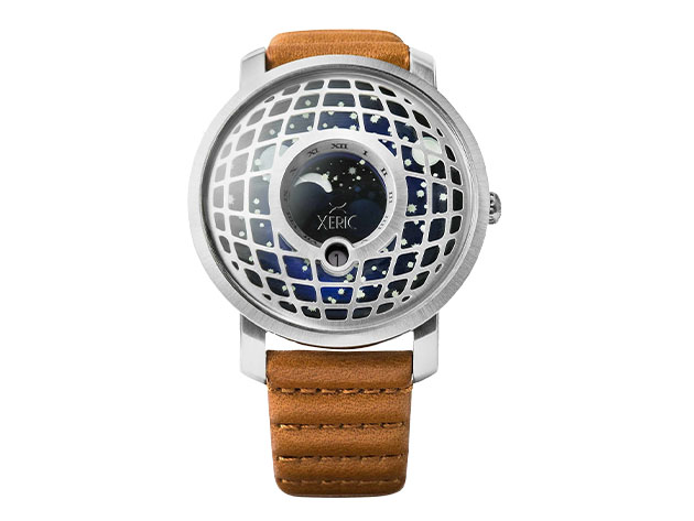 Xeric trappist 1 moonphase watch silver blue citizen goods for Watches xeric