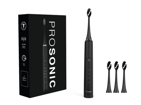 ProSonic Ultra Whitening Sonic Toothbrush with 4 Brush Heads