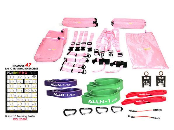 ALLN-1 PlyoBelt™ Portable Fitness Trainer (Pink)