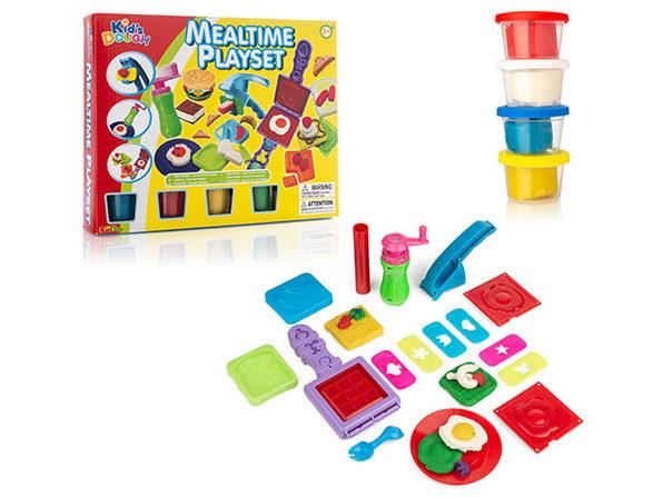 20-Piece Mealtime Creation Kitchen Fun Dough Playset