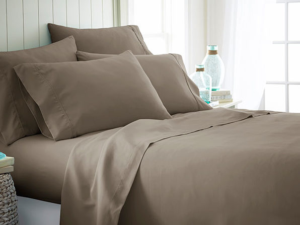 iEnjoy Home Taupe 6-Piece Sheet Set (King)