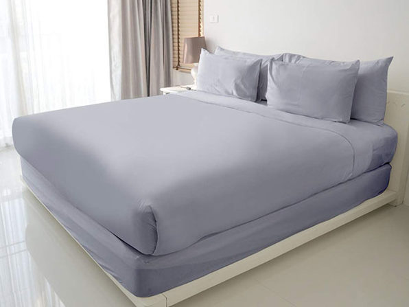 100% Egyptian Cotton Sheet Set (Silver/Queen)