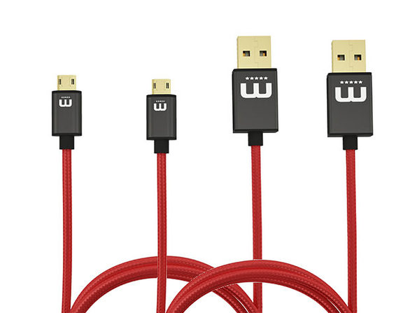 MicFlip Fully Reversible MicroUSB Cable: 2-Pack