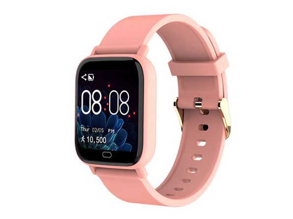 Smart Fit Multi-Function Smartwatch Tracker & Monitor (Pink)