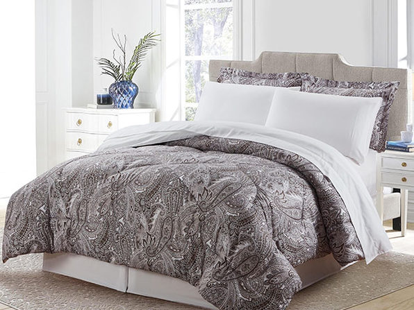 Bibb Home 8-Piece Down Alternative Comforter Set (Stella/King)