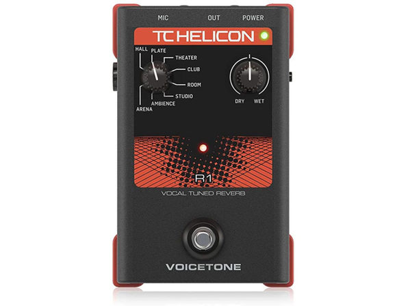 TC Helicon VOICETONE R1 High Quality VoiceTone Vocal Effects Processor - Black (Used, Damaged Retail Box)