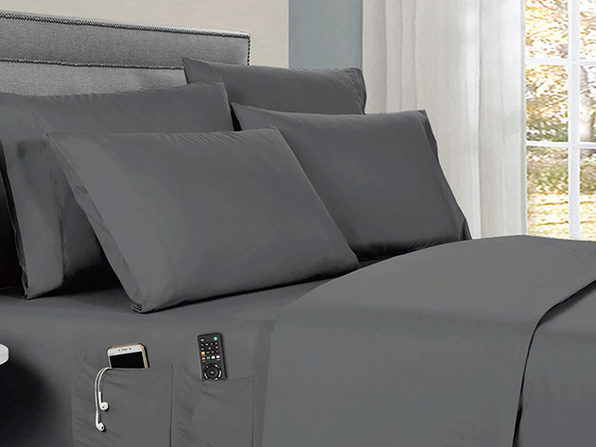 Kathy Ireland 6-Piece Smart Sheet Set (Grey)