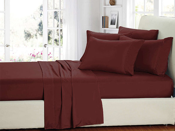 Smart Sheets® Burgundy Microfiber Sheet Set (King)
