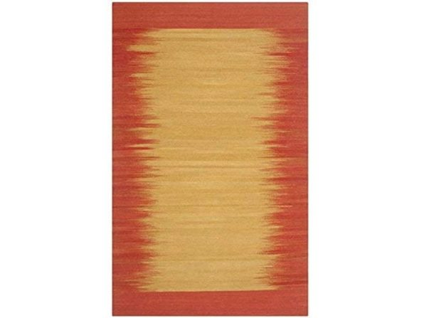"Safavieh Kilim Collection KLM947A Hand Woven Rust Premium Wool Runner 23"" x 8'"
