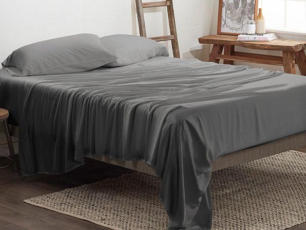 4-Piece Luxury 100% Rayon Bamboo Sheet Set // Gray (King)