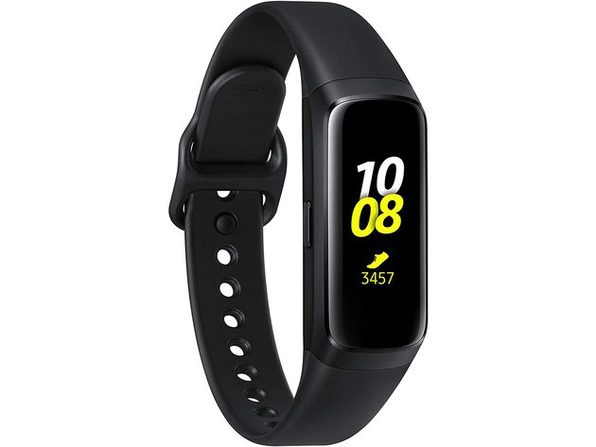 Samsung SMR370NZKAXAC Galaxy Fit Fitness Tracker Wearables Amoled Display- Black (Used, Open Retail Box)
