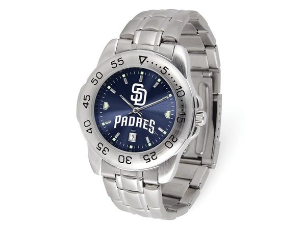 MLB Mens San Diego Padres Sport Steel Watch - Product Image