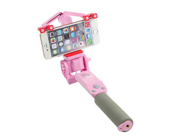 360 Deg. Panoramic Robotic  Selfie Stick - Pink - Product Image