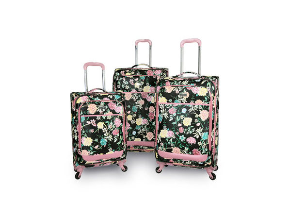 Kensie 3-Piece Le Jardin Spinner Luggage Set