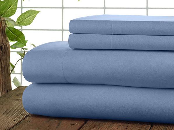 Kathy Ireland 4-Pc Coolmax Sheet Set - Queen - Blue - Product Image