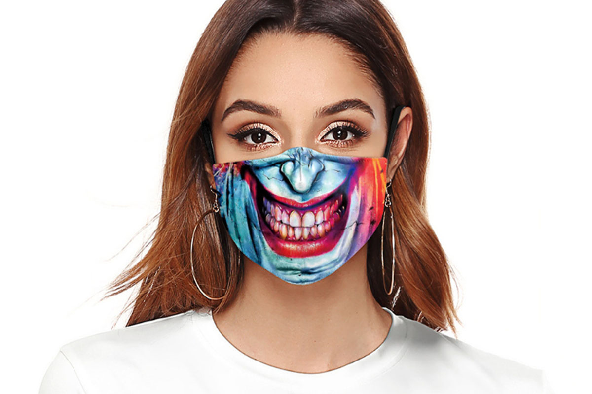 Halloween Reusable Cloth Face Mask, on sale for $14.99 (40% off)