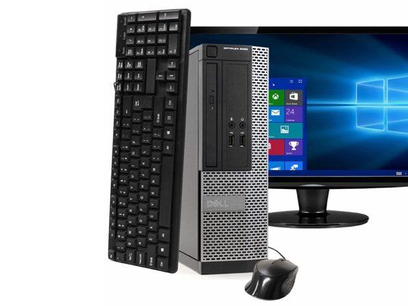 """Dell OptiPlex 3020 Small Form Factor PC, 3.2GHz Intel i5 Quad Core Gen 4, 8GB RAM, 240GB SSD, Windows 10 Home 64 bit, 22"""" Screen (Renewed)"""