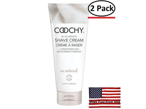 ( 2 Pack ) Coochy  Shave Cream Au Natural 12.5 Fl. Oz.