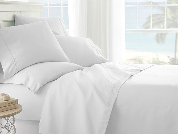 White 6-Piece Sheet Set (Queen) - Product Image