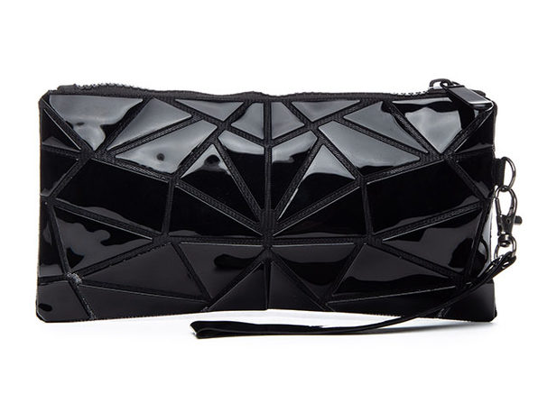 Geo Shaped Wristlet Wallet (Black)