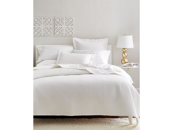 Charter Club Damask Cotton 2 Piece Bedding Quilted Coverlet, Twin, Cotton Thread Count: 210, White