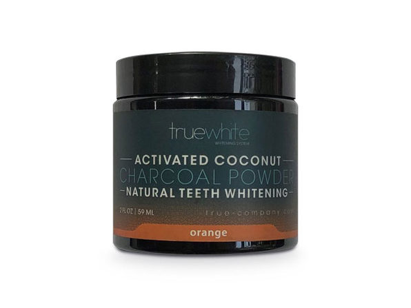 truewhite Teeth Whitening Charcoal Powder, Orange Flavor, 2 oz