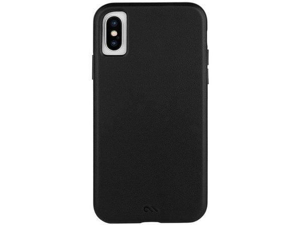 Case-Mate Apple iPhone X/XS Barely There Premium Genuine Leather Case, Smooth Black