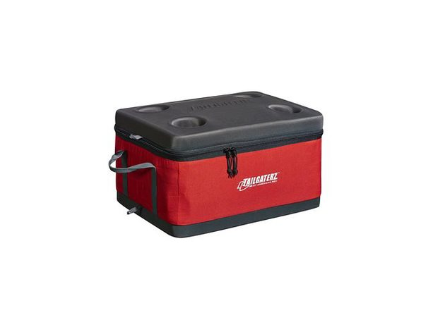 Tailgaterz 4500916 Collapsible Cooler, Red - Red