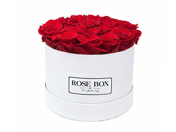 Medium White Boxes with Roses