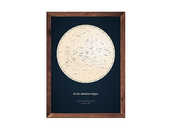 Strellas Personalized Star Map Stacksocial