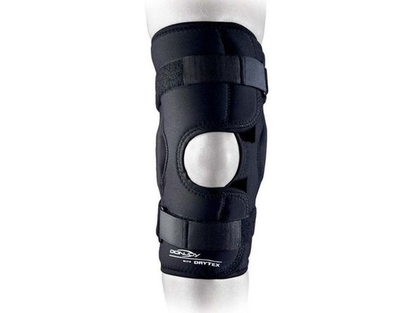 DonJoy Drytex Sports Hinged Open Pop Compressive Knee Support, X-Small: 13 Inches - 15.5 Inches, Black