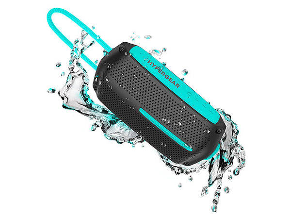 HyperGear Wave Water Resistant Wireless Speaker (Black/Teal)