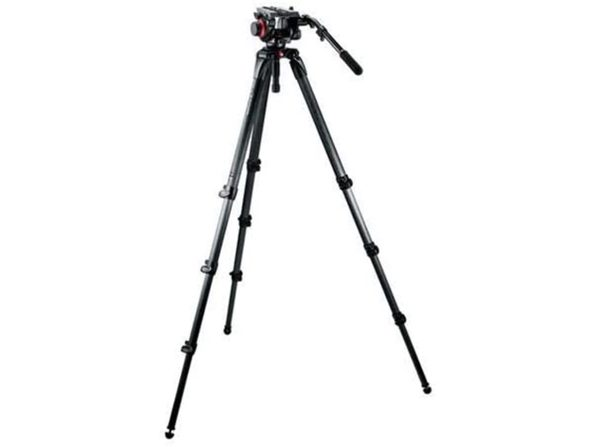 Manfrotto 504HD,536K Video Tripod Kit with 504HD Head and 536 Carbon Fiber-Black (Distressed Box)