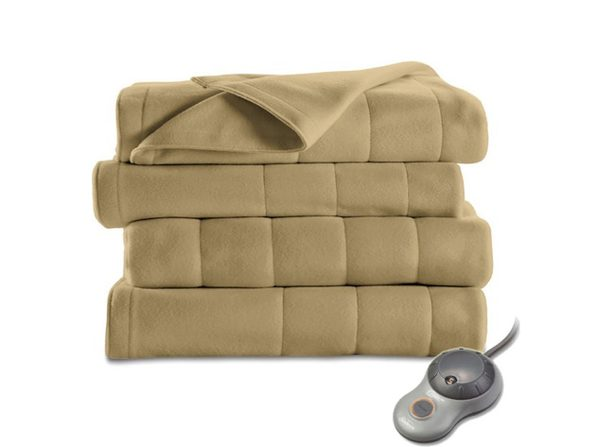 Sunbeam Heated Electric Blanket Quilted Fleece Full Size Acorn - Acorn