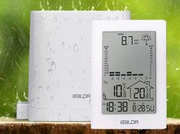 BALDR Indoor & Outdoor Wireless Thermometer with Rain Gauge