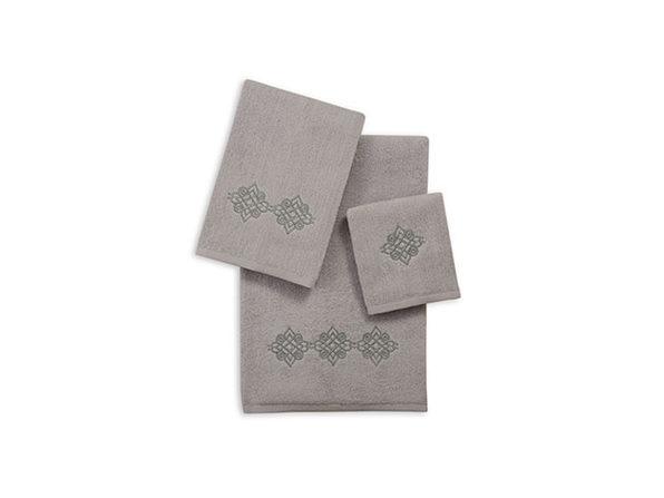 3-Piece Zero Twist Embroidered Towel Set
