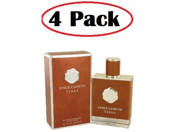 4 Pack of Vince Camuto Terra by Vince Camuto Eau De Toilette Spray 3.4 oz - Product Image