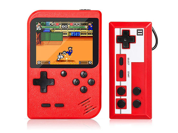 Portable Game Pad with 400 Games + 2nd Player Controller (Red)