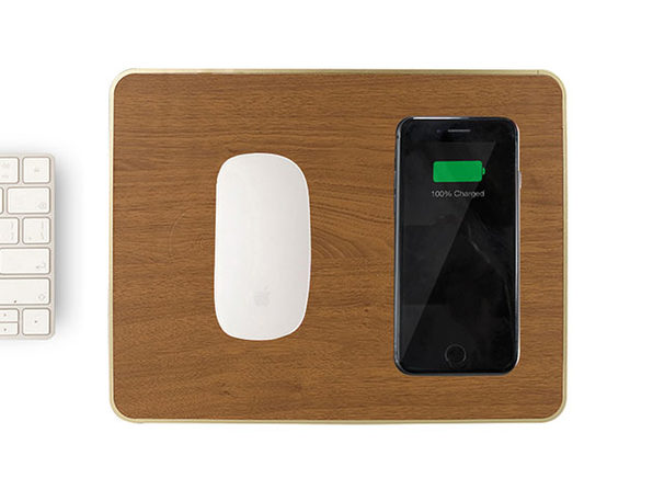 Wireless Charging Mouse Pad (Brown)