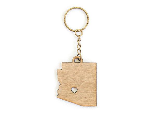 Arizona with Heart Keychain