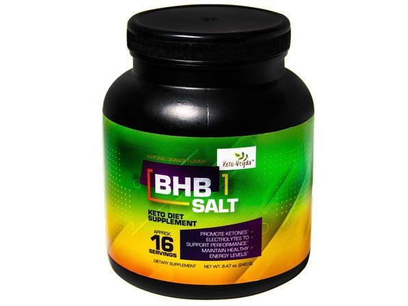 Ketoveyda BHB Salt (Beta Hydroxybutyrate Blend) Orange Flavor Keto Diet Supplement 8.47 Oz (16 Servings)