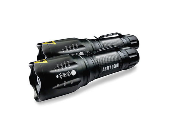 Viper 1000-Lumen Tactical Flashlights: 2-Pack