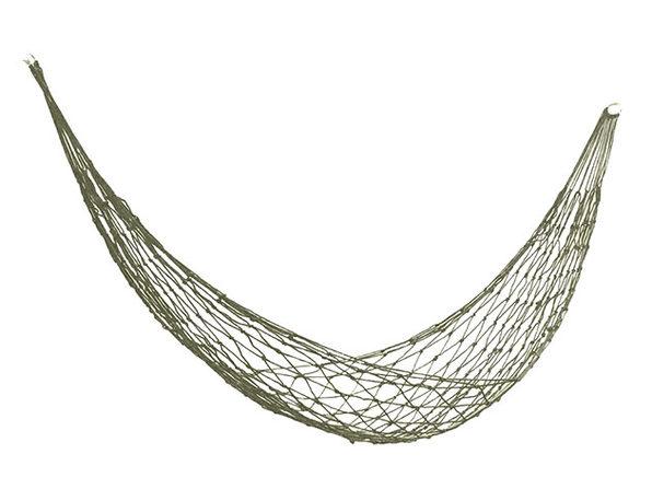 Nylon Mesh Hammock (Olive Green)