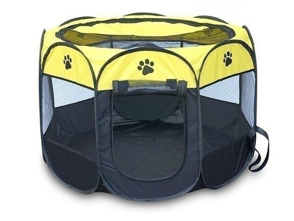 Portable Pet Tent (Yellow Small) - Product Image