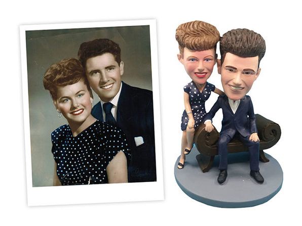 Handmade Custom Couple Bobblehead
