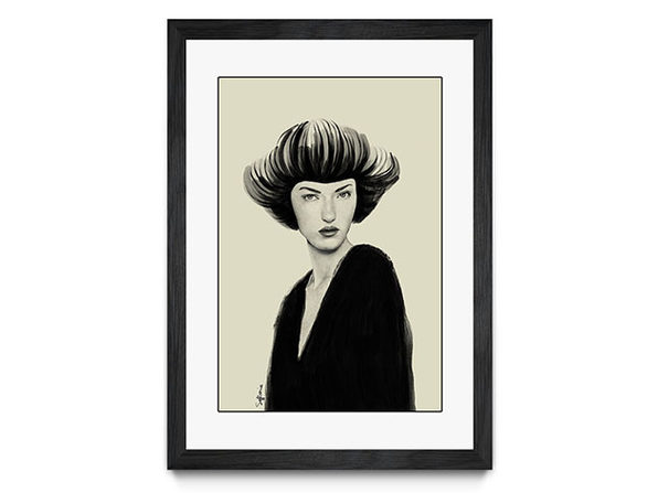 "Framed Print Black ""Roux"" by Sofia Bonati"