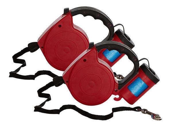 EZ-PET Retractable Leash With Bag Dispenser 2-pack - Product Image